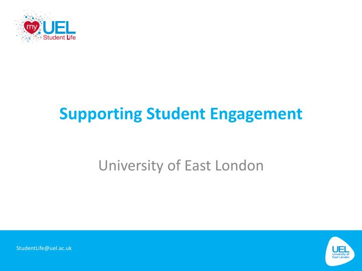 supporting studen t engagement n.