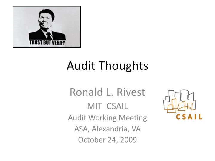 audit thoughts n.