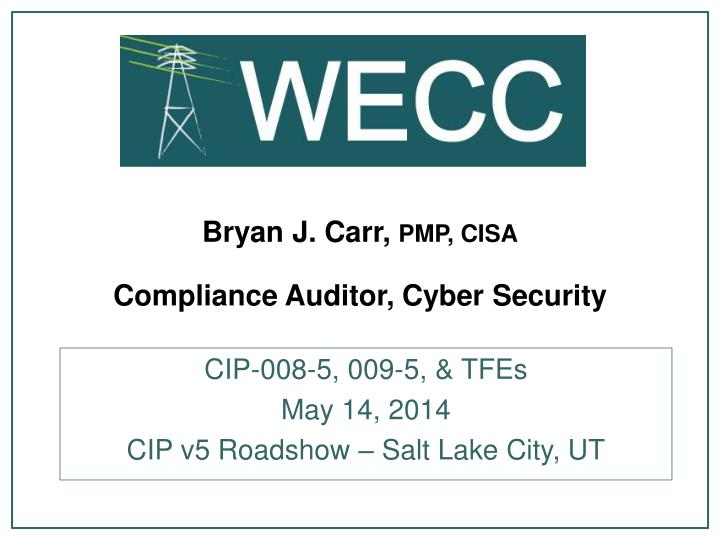 bryan j carr pmp cisa compliance auditor cyber security n.