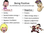 being positive has nothing to do with personality type