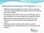 educational initiatives programs cont d