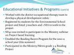 educational initiatives programs cont d2