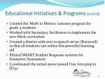 educational initiatives programs cont d3