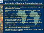 inevitability of regional cooperation in africa
