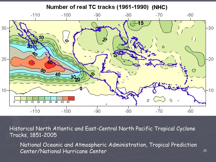 Historical North Atlantic and East-Central North Pacific Tropical Cyclone Tracks, 1851-2005