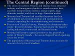 the central region continued