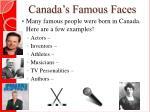 canada s famous faces