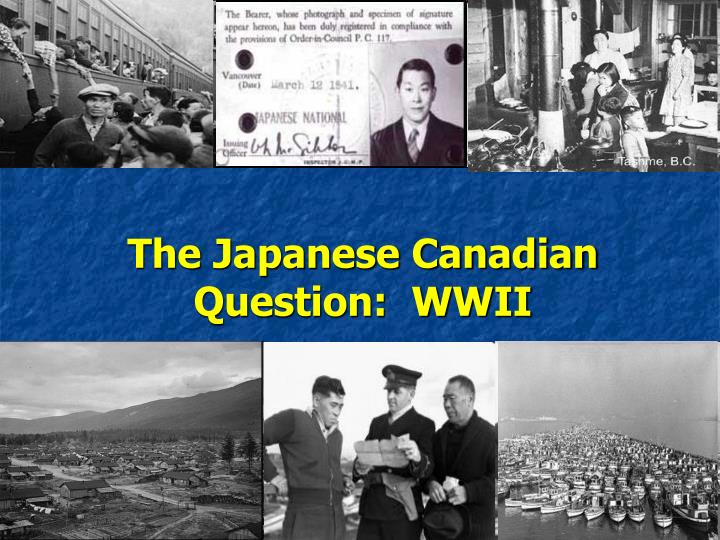 the japanese canadian question wwii n.