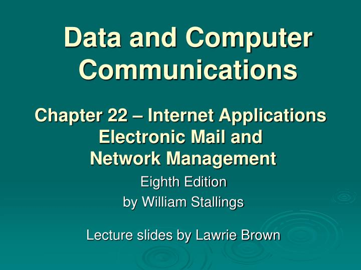 data and computer communications n.