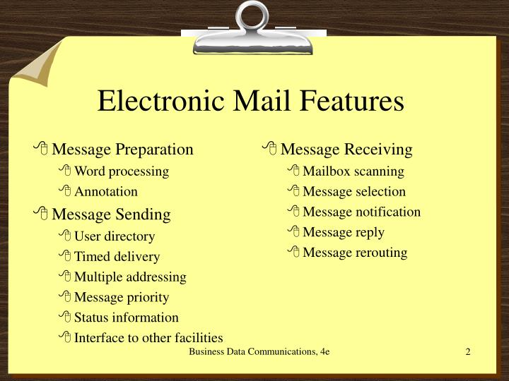 Electronic mail features