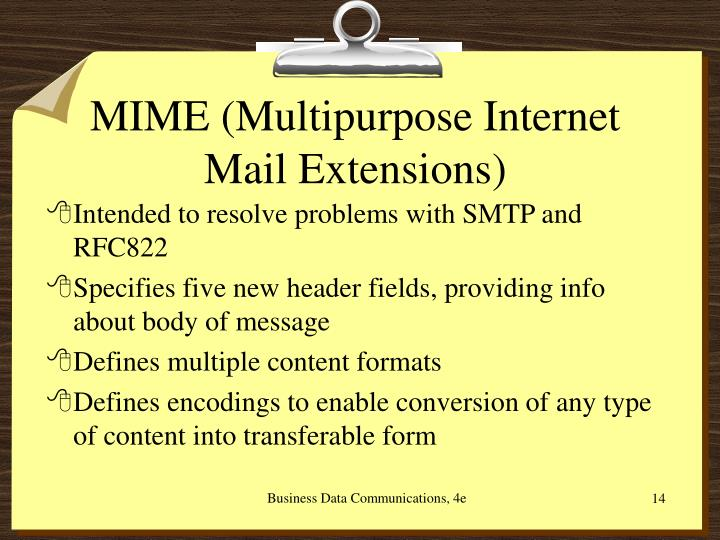 MIME (Multipurpose Internet Mail Extensions)
