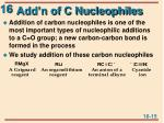 add n of c nucleophiles