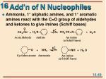 add n of n nucleophiles
