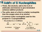 add n of s nucleophiles