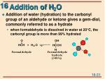 addition of h 2 o