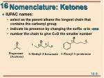 nomenclature ketones