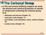 the carbonyl group