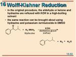 wolff kishner reduction
