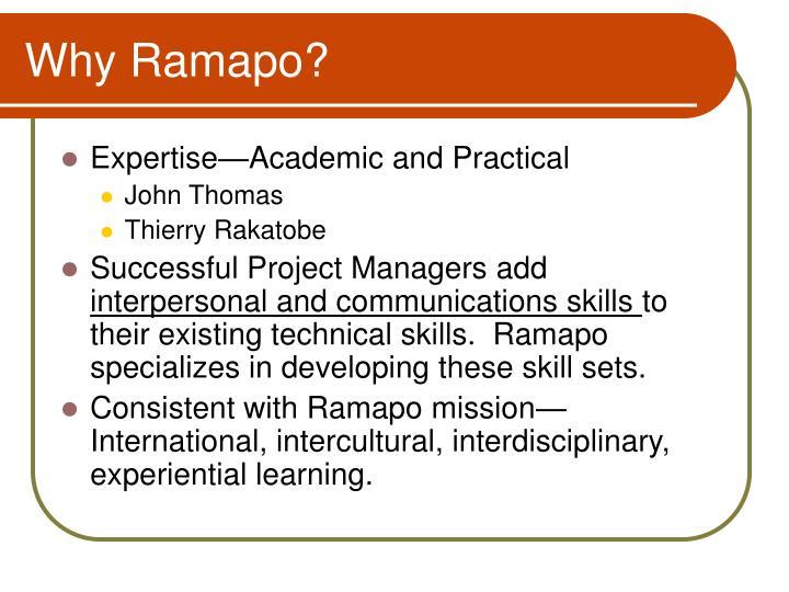 Why Ramapo?