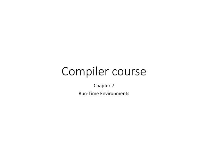 compiler course n.