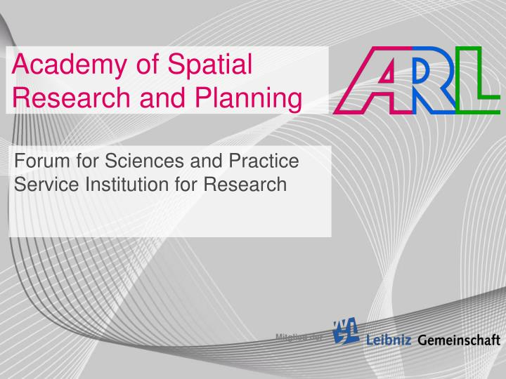 academy of spatial research and planning n.