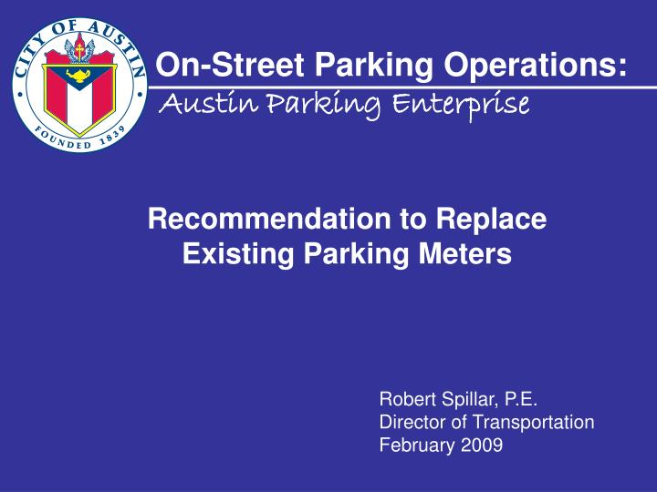 on street parking operations n.