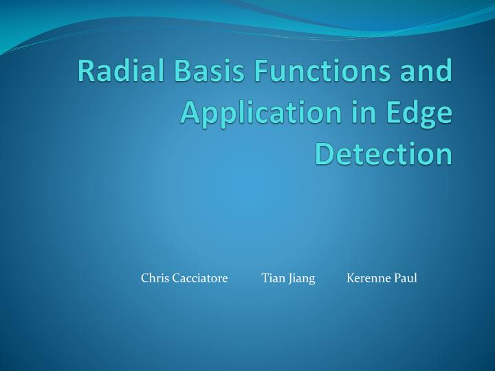 radial basis functions and application in edge detection n.