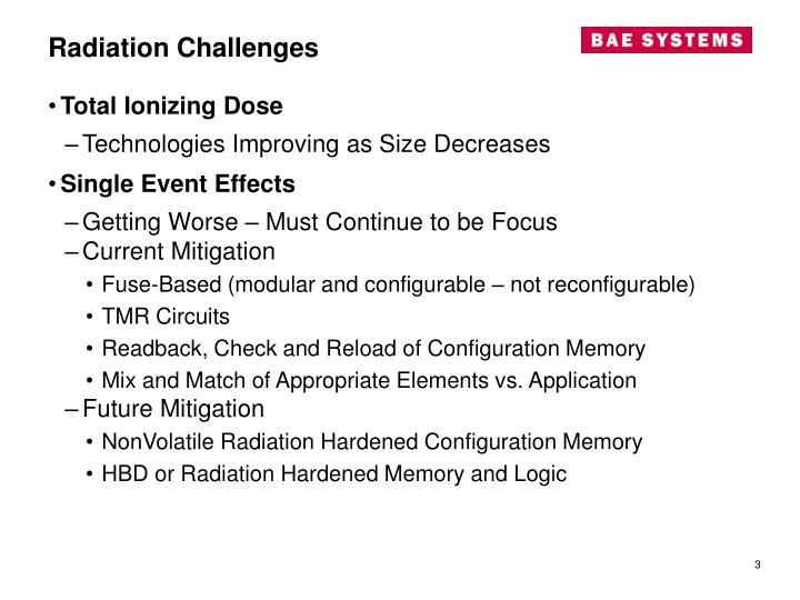 Radiation challenges