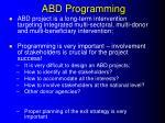 abd programming