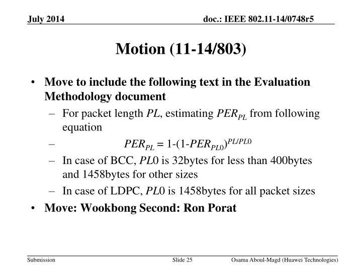 Motion (11-14/803)