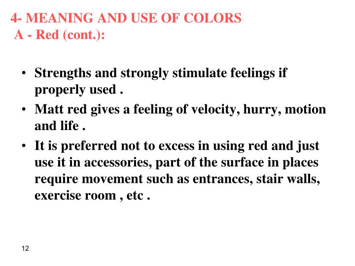 4- MEANING AND USE OF COLORS