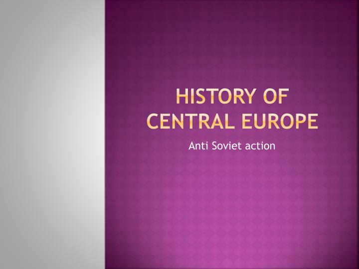 history of central europe n.