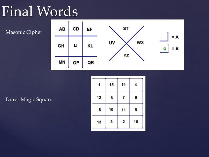 Masonic Cipher