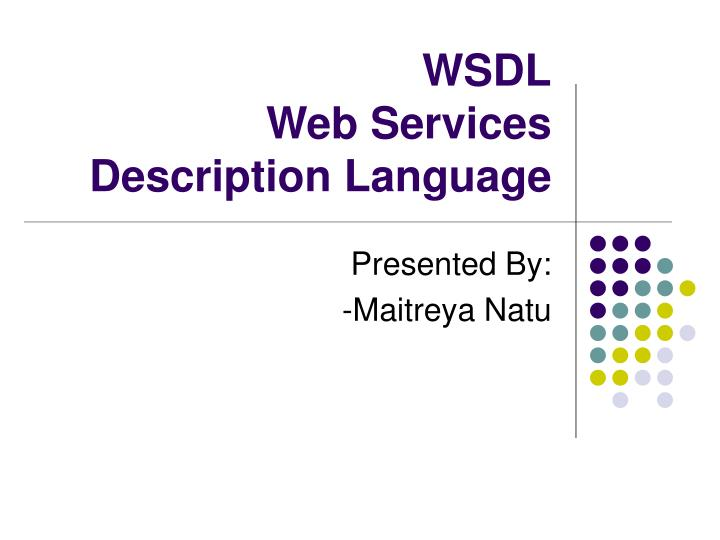 wsdl web services description language n.