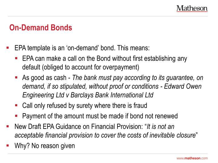 On-Demand Bonds
