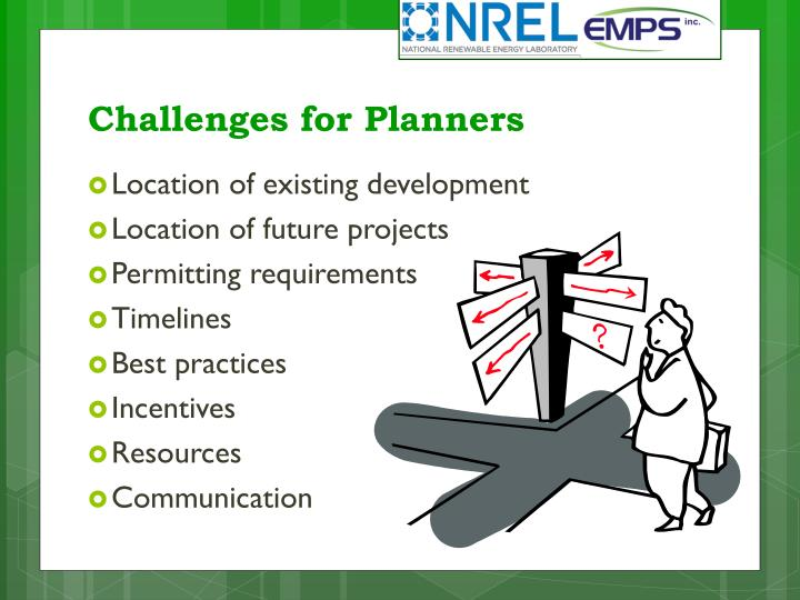 Challenges for Planners