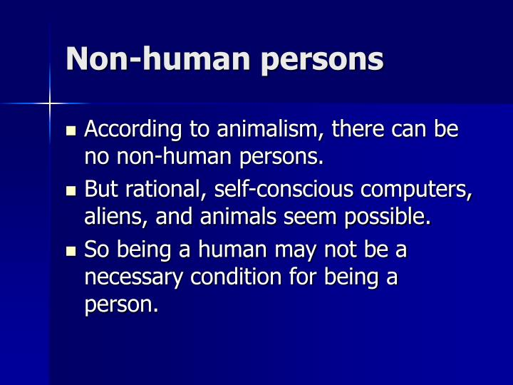 Non-human persons