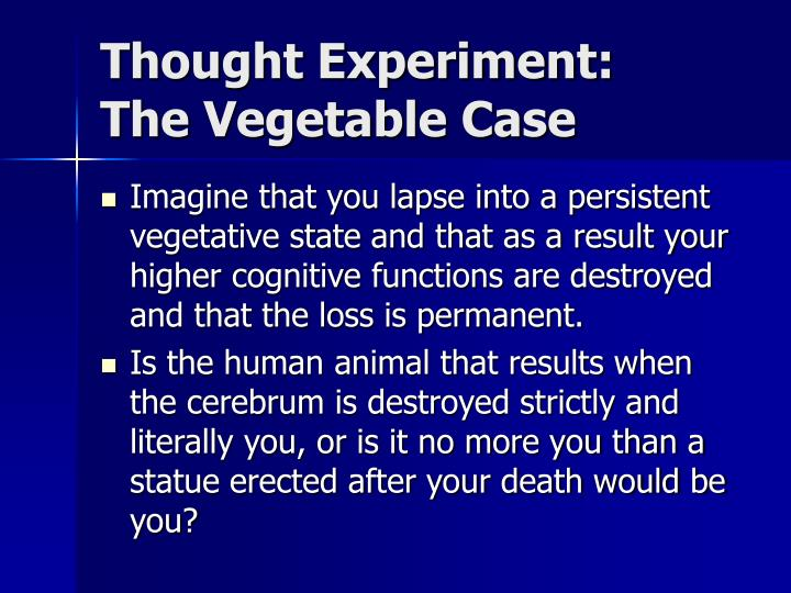 Thought Experiment: