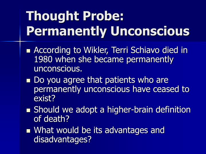 Thought Probe: Permanently Unconscious