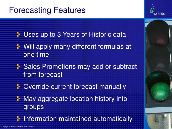 Forecasting Features