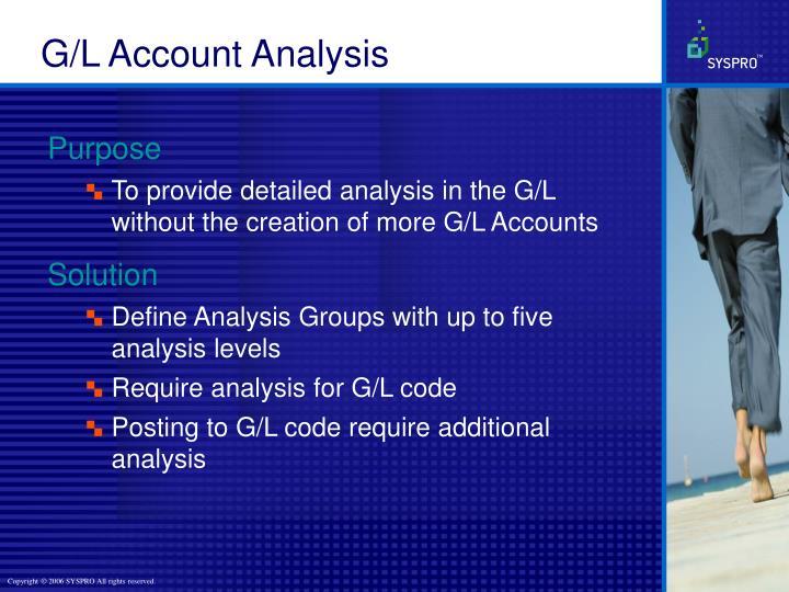 G/L Account Analysis