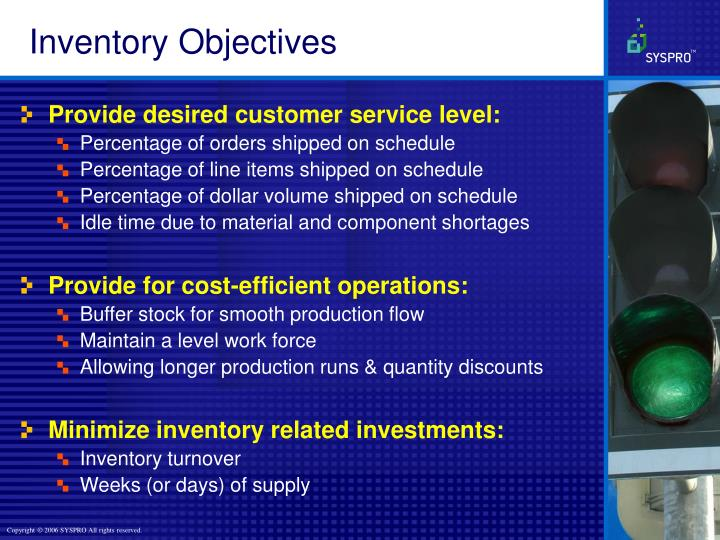 Inventory Objectives