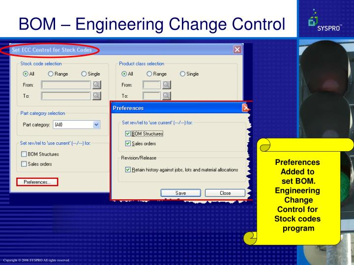 BOM – Engineering Change Control