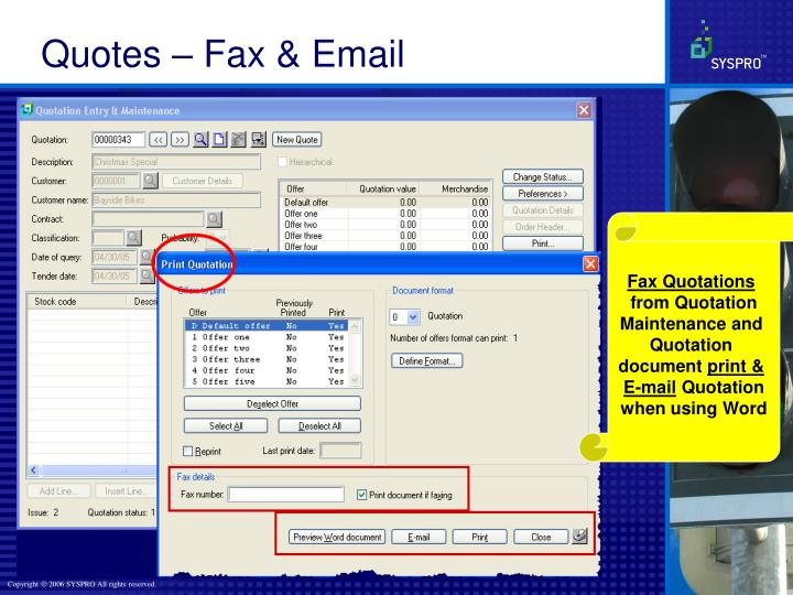 Quotes – Fax & Email