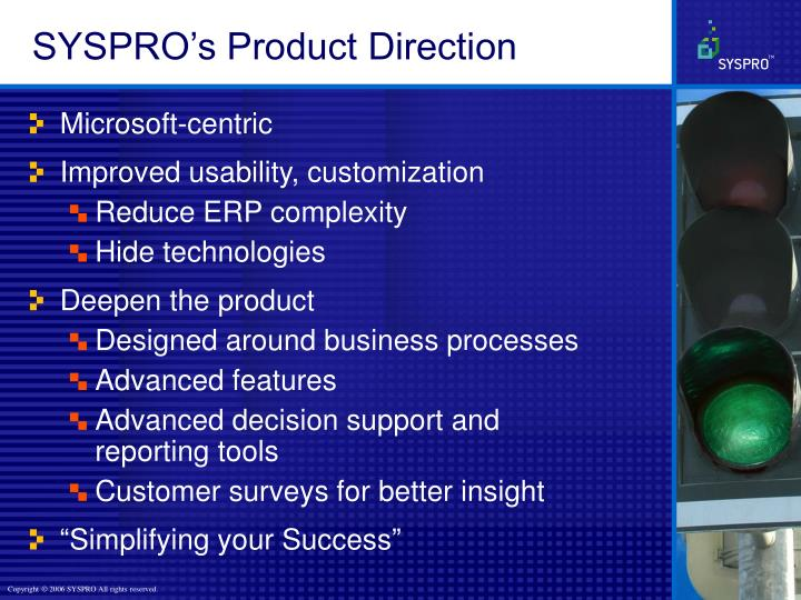 SYSPRO's Product Direction
