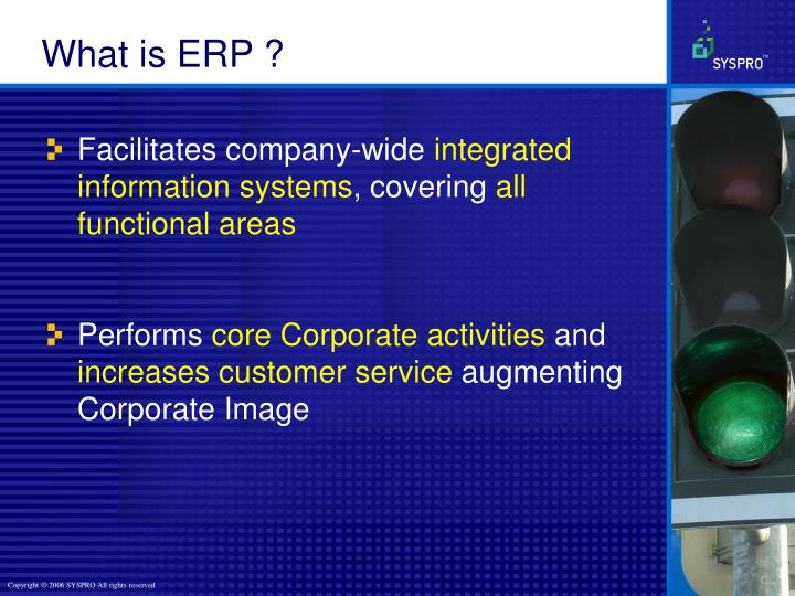 What is ERP ?