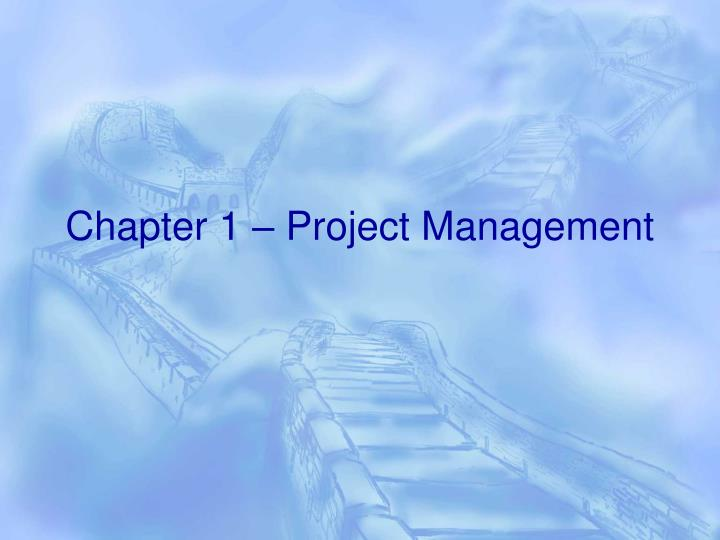 chapter 1 project management n.