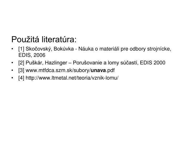 Použitá literatúra:
