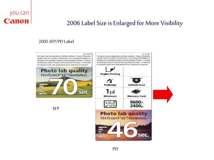 2005 SFP/PD Label