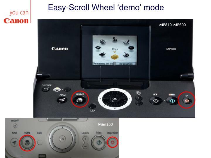 Easy-Scroll Wheel 'demo' mode